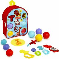 Fisher Price Dough Dots Press & Roll Large Kids Backpack 11 Pieces Age 3-6 Years
