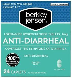 Berkley Jensen Anti-Diarrheal Hydrochloride Tablets 2 mg 24 Caplets