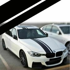 Dual Accent Rally Strips Black Sticker For BMW Full Body Hood, Roof, Trunk