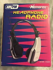 NEW Vintage Memorex  AM/FM  HeadPhone HeadSet Radio Model 224SM NOS BNIB