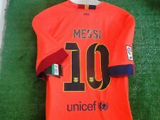 ** MESSI ** BARCELONA AWAY SHIRT BNWT 2014-15 SIZE XLARGE