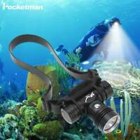 50000LM L2 LED Diving Headlamp Underwater Headlight Scuba Head Flashlight Torch