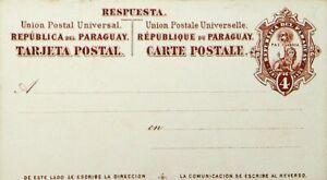 PARAGUAY 4c FINE UNUSED UPU TARJETA POSTAL CARD