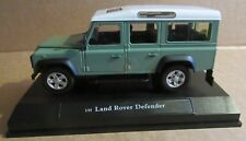 OXFORD CARARAMA LAND ROVER DEFENDER STATION WAGON GREEN 1:24 SCALE DIECAST