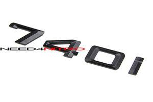 For BMW 7-Series 740i Matte Black Trunk Lid Letter Logo Emblem Sticker Decal