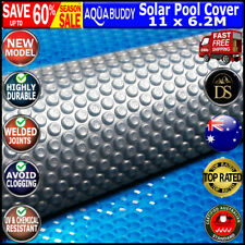 Solar Swimming Pool Cover Outdoor Bubble Blanket REAL 400 500 Micron Aquabuddy