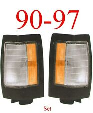 Black Parking Light Set For 90 97 Nissan, Hardbody, Truck, D21, Replacement Pair