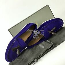 Auth Tom Ford Mens Iris Suede Leather Loafers Moccasin Shoes Size 43 UK9 US10