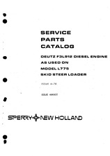 DEUTZ F3L912 / F3L 912 ENGINE Parts Manual PDF file SPARE PARTS LIST CATALOGUE