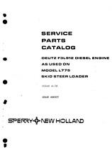 Deutz F3L912/F3L 912 Manual de piezas del motor Archivo Pdf catálogo de lista de piezas de repuesto