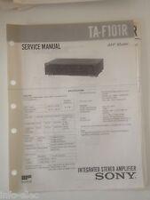 Schema SONY - Service Manual Integrated Stereo Amplifier TA-F101R TAF101R