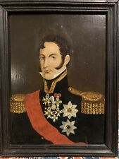 Napoleonic War Prussian General Officer Portrait Oil Painting Soldier Uniform