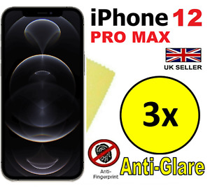 3x MATTE ANTI GLARE SCREEN PROTECTOR COVERS  FILMS FOR APPLE IPHONE 12 PRO MAX