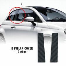 Adesivi Coprimontanti Centrali Carbonio Fiat 500 e 500 Abarth