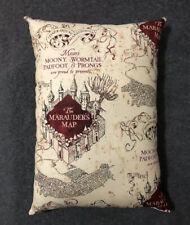 """Beautiful Handmade Harry Potter Accent - Throw Pillow 14"""" x 10"""" Marauder's Map"""