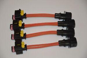 4 Connettore adattatore Fiat femmina e Bosch maschio per iniettori Landi Rnzo