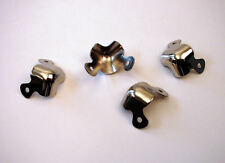 4 Pack Reliable Hardware Small Two Leg Cabinet Corners  - Nickle Finish   1270X4