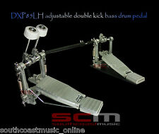 LEFT HAND DOUBLE KICK BASS DRUM PEDAL CHAIN DRIVE DXP85LH WARRANTY FREE DELIVERY