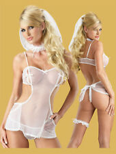 Sexy Lingerie White Honeymoon Size 8 10 12