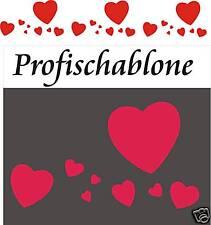 Schablone, Stupfschablonen, Wandschablone, Malerschablone, Stencils - Herzfries