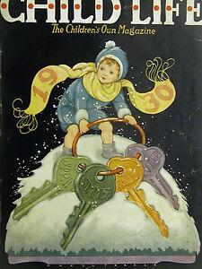 Hazel Frazee CHILD LIFE New Year's Cover 1930 4 SEASONS Art Print Matted