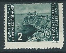 1946 OCCUPAZIONE JUGOSLAVA ISTRIA SLOVENO 2 LIRE VARIETà MH * - RR11900