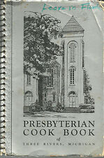 *THREE RIVERS MI *ANTIQUE *PRESBYTERIAN CHURCH COOK BOOK *LOCAL ADS *MICHIGAN