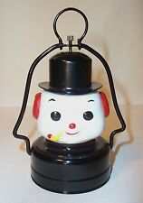 MINT 1950's BATTERY OPERATED SNOWMAN GLOBE LANTERN CHRISTMAS TOY LAMP FROSTY