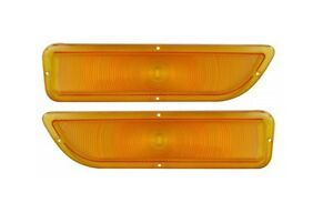 USA-Made! 1962-66 GMC Pickup Truck Parking Light Lens, Amber NEW Trim Parts!