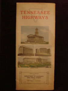 1940 Tennessee Official Highway Map