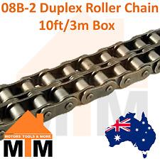 "INDUSTRIAL ROLLER CHAIN 08B-2 - 1/2"" PITCH Duplex 10Ft 3m Box 08B"