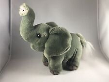 "Plush Elephant Stuffed Animal - 8"" Tall x 11"" Long Jungle Africa Theme"