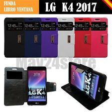 Funda soporte libro ventana LG K4 2017