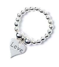 925 Sterling Silver Ball Bead TOE Ring with Love Heart Charm RTR004