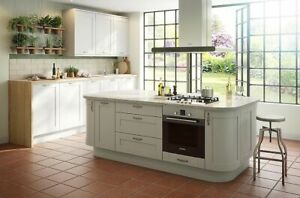 B&Q IT Kitchens Brookfield Textured Mussel Style Shaker Doors and Panels