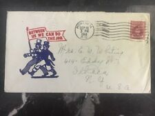 1944 Montreal Canada Patriotic Cover To Ithaca NY Between Us Can Do The Job