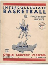 1940 DePaul-Toledo & Loyola-Butler Doubleheader Program RARE!!