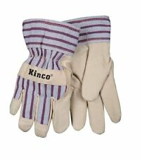 KINCO 1927-C Lined Ultra Suede Palm Gloves, Ages 3-6, Child, Golden