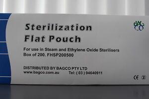 Heat Seal Sterile Pouch;Dental,Medi,Tattoo,BodyArt,Autoclave;200x500mm.2 x BOXES