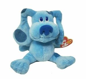 "5"" TY BEANIE BUDDIES BLUE'S CLUES 2006 STUFFED ANIMAL PLUSH TOY W/ TAG"