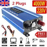1500/4000W Car Power Inverter DC 12V to AC 240V Sine Wave Converter 4USB Sockets