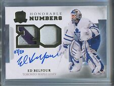 14-15 The Cup Honorable Numbers Dual Patch Auto Ed Belfour /20 3 Color