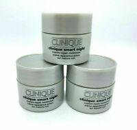 Lot 3 Clinique Smart Night Custom Repair Moisturizer 15ml each total 45 ml