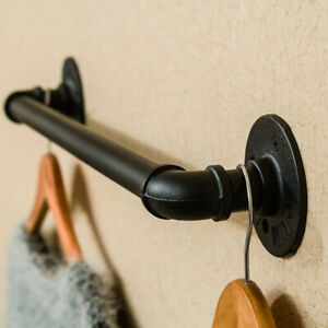 Pipe Towel Rail | Towel Holder | Industrial Rustic Decor | Fixings Included UK