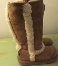 Kid Girl UGG Chestnut Tall Boots 5274  sz 4 US,UK 3 EUR 34 USED,worn