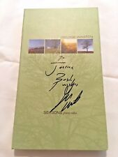 Seasons: Piano Solos  George Winston CD/concert DVD 4 Disc Box Set signed