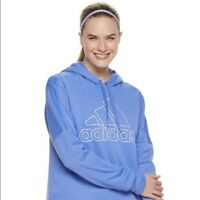 Adidas Womens Size L Real Lilac Team Issue Pullover Hoodie Sweatshirt NWT