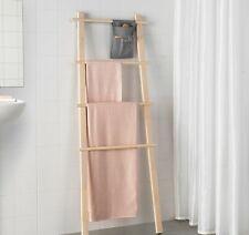 VILTO Decorative Towel Rack Ladder - Clothes Rail Shelf Dryer Bars Natural