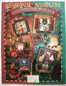 Seasonal Samplers Debbie MummHalloween fall Winter Christmas quilt patterns