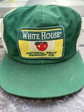 Vintage Snapback Trucker Hat K Products White House National Fruit Product Co